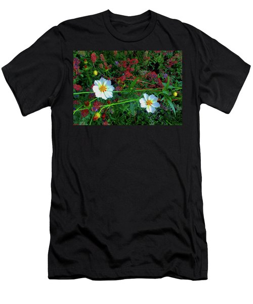 Men's T-Shirt (Athletic Fit) featuring the photograph Two Daisies by Roger Bester