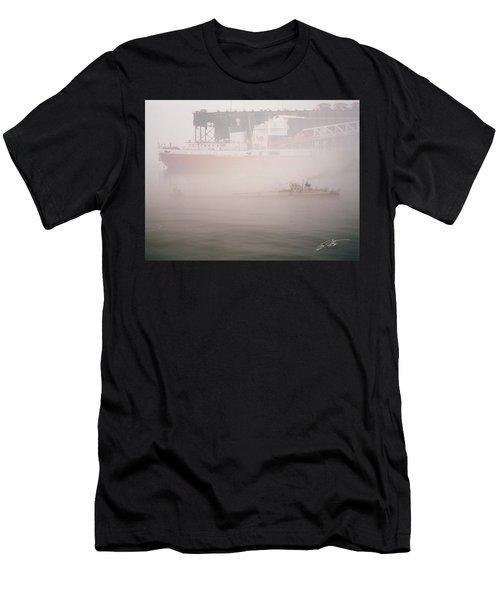 Two Harbors Fog Ship II Men's T-Shirt (Athletic Fit)