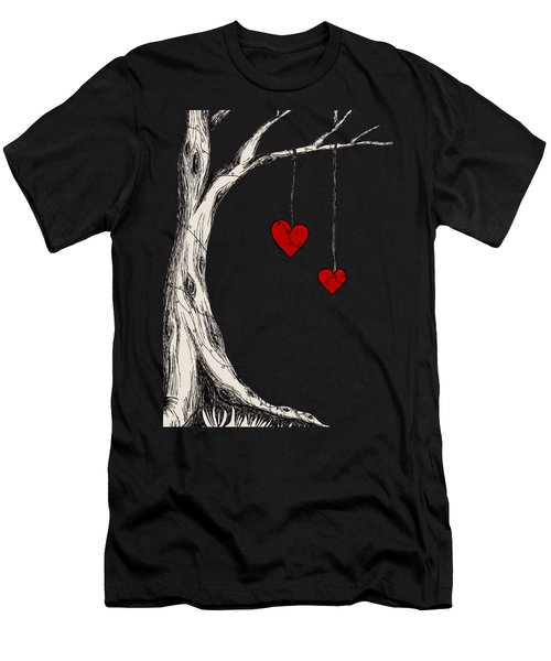 Two Hearts Graphic Men's T-Shirt (Athletic Fit)