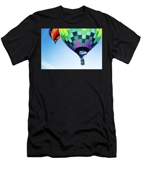 Two Hot Air Balloons Ascending Men's T-Shirt (Athletic Fit)