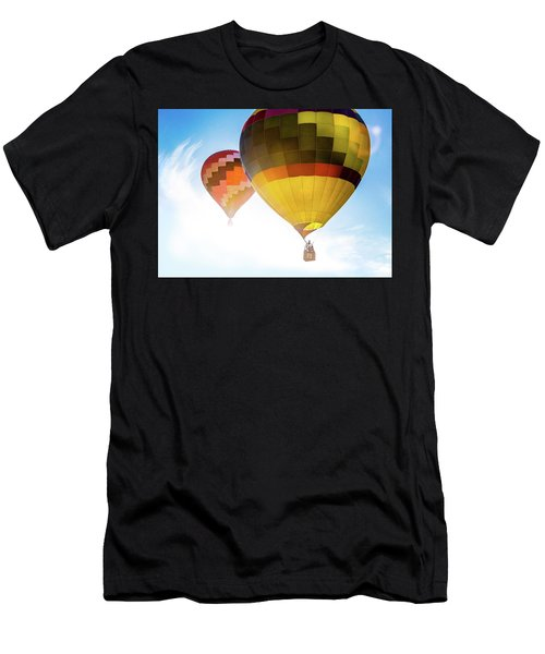 Two Hot Air Balloons Into The Sun Men's T-Shirt (Athletic Fit)