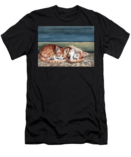 Two Kittens Men's T-Shirt (Athletic Fit)