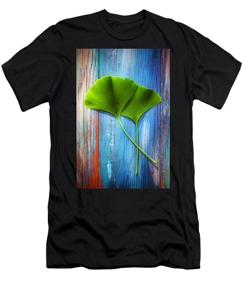 Two Leaves Of Ginkgo Biloba Men's T-Shirt (Athletic Fit)