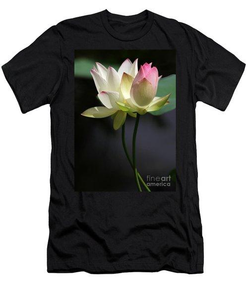 Two Lotus Flowers Men's T-Shirt (Athletic Fit)
