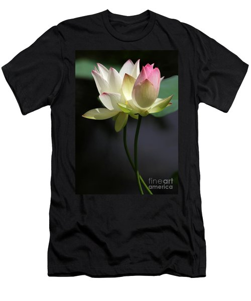 Two Lotus Flowers Men's T-Shirt (Athletic Fit)
