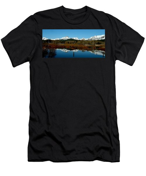 Two Med River Reflection Men's T-Shirt (Slim Fit)