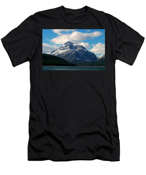 Two Medicine Lake And Rising Wolf Mountain Men's T-Shirt (Athletic Fit)