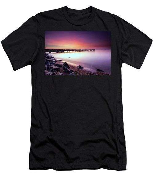 Men's T-Shirt (Slim Fit) featuring the photograph Two Minutes Of Blue Hour   by Edward Kreis