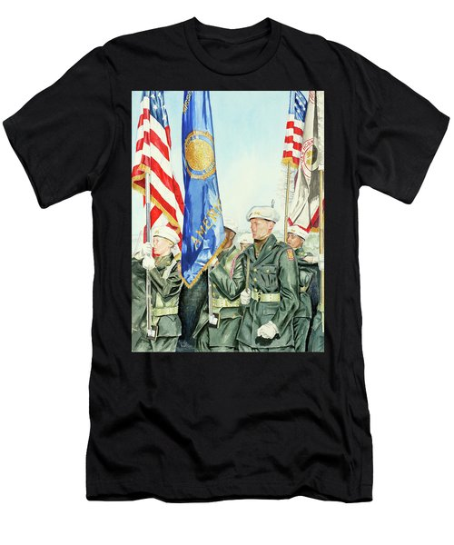 Two Months After 9-11  Veteran's Day 2001 Men's T-Shirt (Athletic Fit)