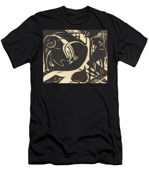 Two Mythical Animals Men's T-Shirt (Athletic Fit)
