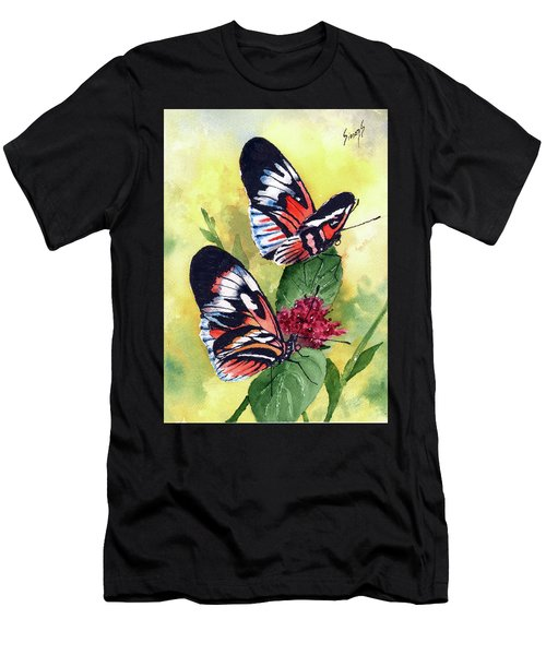Men's T-Shirt (Athletic Fit) featuring the painting Two Of A Kind by Sam Sidders