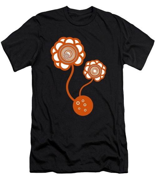 Two Orange Flowers Men's T-Shirt (Athletic Fit)