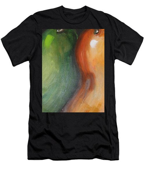 Men's T-Shirt (Slim Fit) featuring the painting Two Pears by Jolanta Anna Karolska