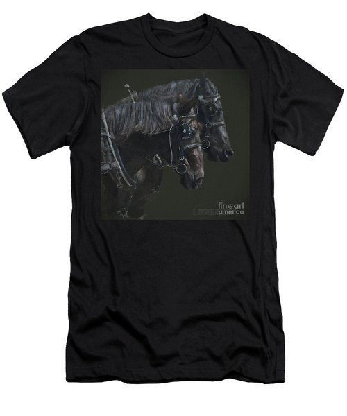 Two Percherons Men's T-Shirt (Athletic Fit)