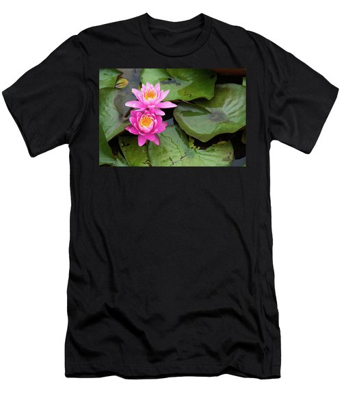 Two Pink Lilies Men's T-Shirt (Athletic Fit)