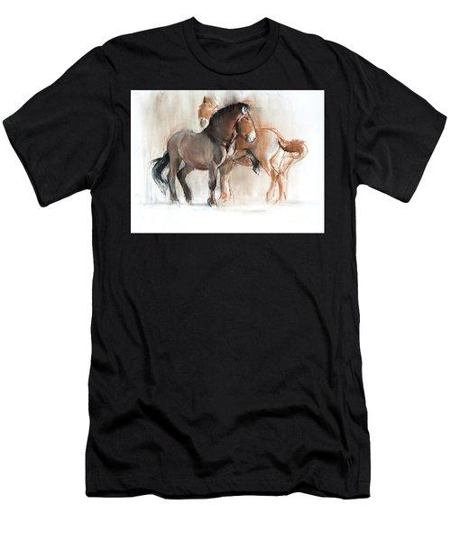 Two Przewalski Men's T-Shirt (Athletic Fit)
