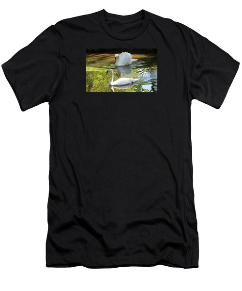 Two Swans On A Lake Men's T-Shirt (Athletic Fit)