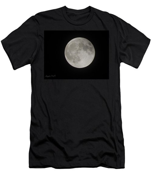 Two-tone Gray Moon Men's T-Shirt (Athletic Fit)