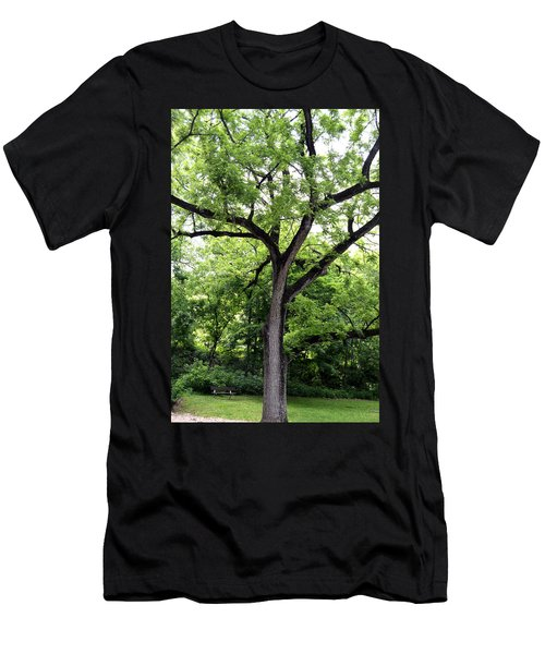 Men's T-Shirt (Athletic Fit) featuring the photograph Two Tone Tree by W And F Kreations