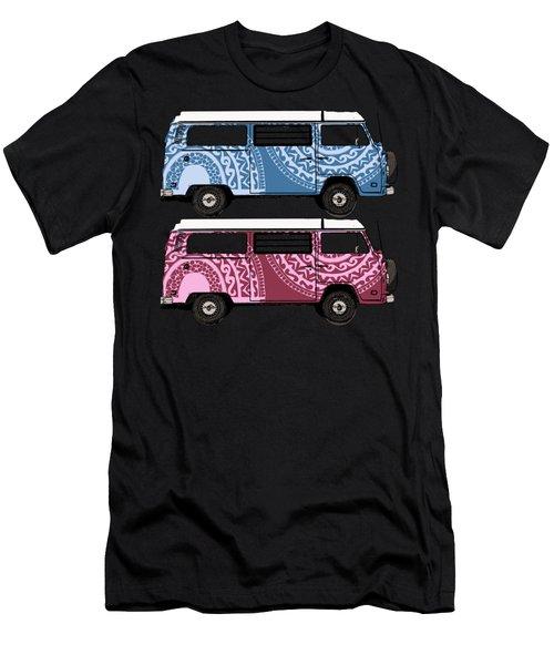 Two Vw Vans Men's T-Shirt (Athletic Fit)