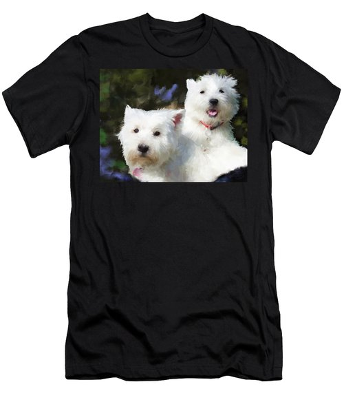 Two Westies Men's T-Shirt (Athletic Fit)