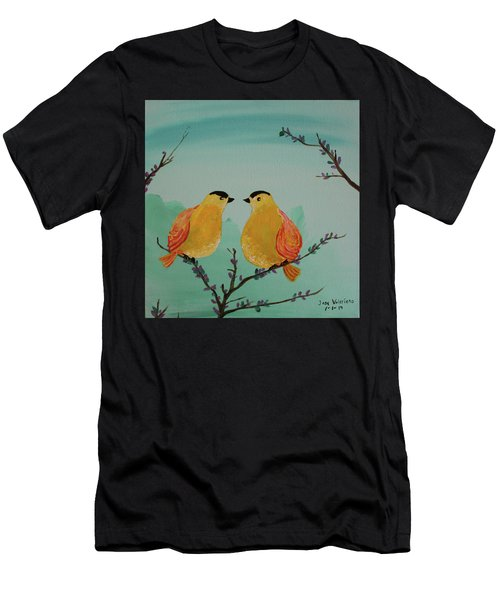 Two Yellow Chickadees Men's T-Shirt (Athletic Fit)