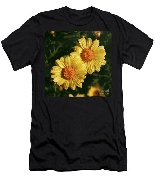 Two Yellow Daisies In The Garden Men's T-Shirt (Athletic Fit)