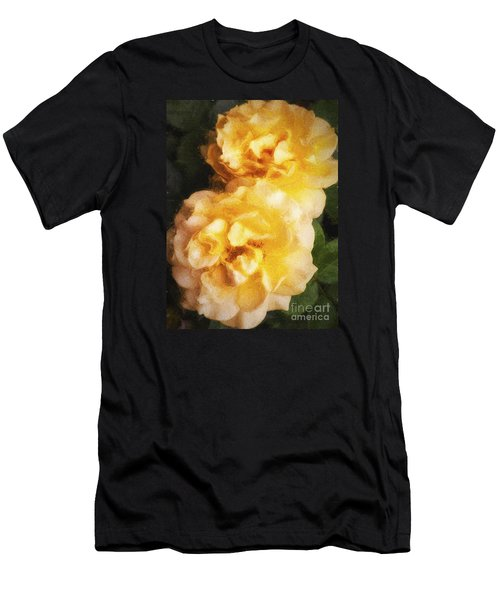 Two Yellow Roses  ... Men's T-Shirt (Slim Fit) by Chuck Caramella