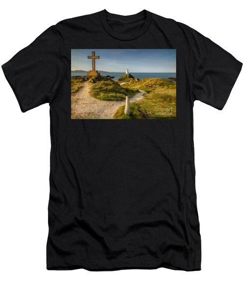 Twr Mawr Lighthouse Men's T-Shirt (Athletic Fit)