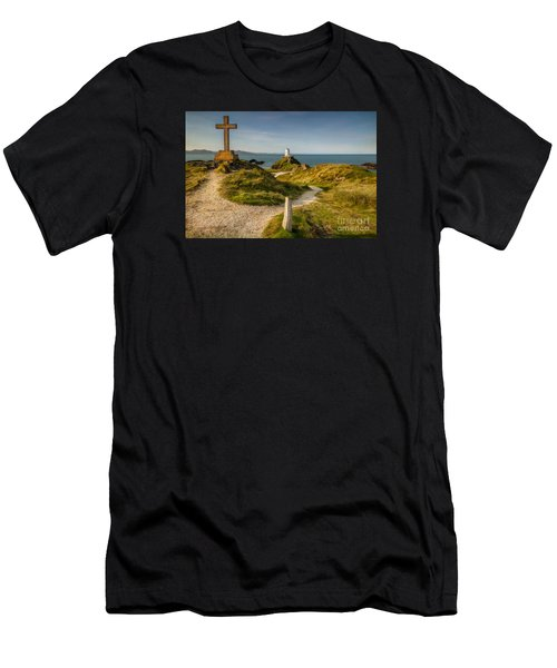 Twr Mawr Lighthouse Men's T-Shirt (Athletic Fit)