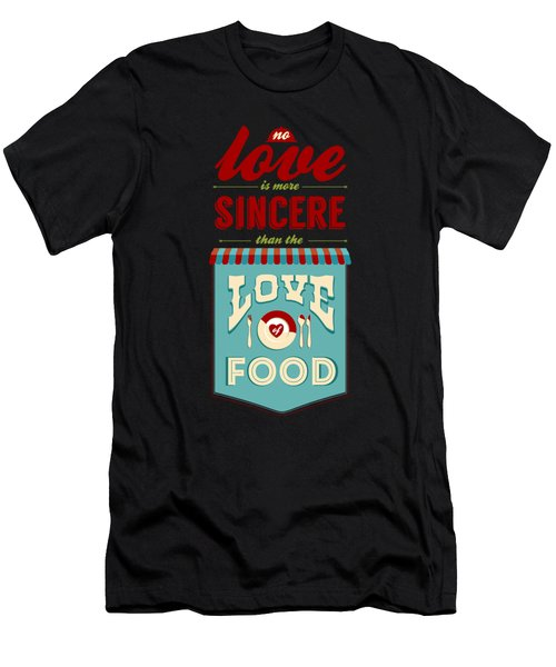 Typography Art Quotes Poster Men's T-Shirt (Athletic Fit)