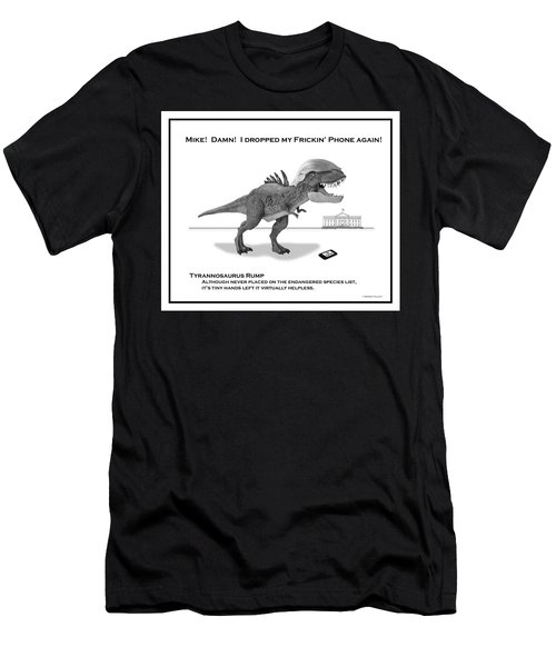 Tyrannosaurus Rump Bw Men's T-Shirt (Athletic Fit)