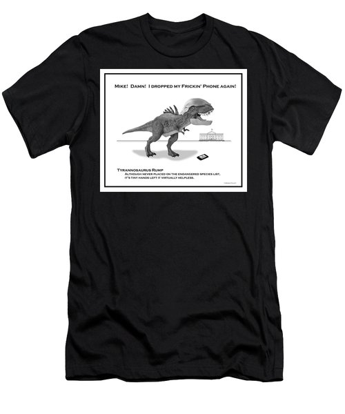 Tyrannosaurus Rump Bw Men's T-Shirt (Athletic Fit)