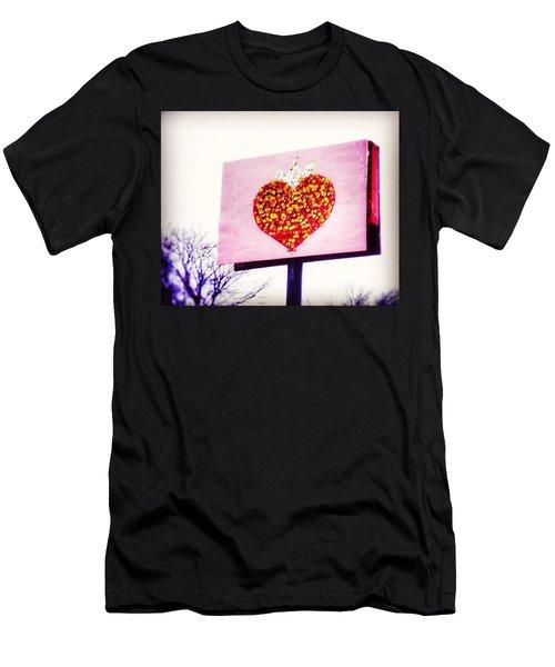 Tyson's Tacos Heart Men's T-Shirt (Athletic Fit)