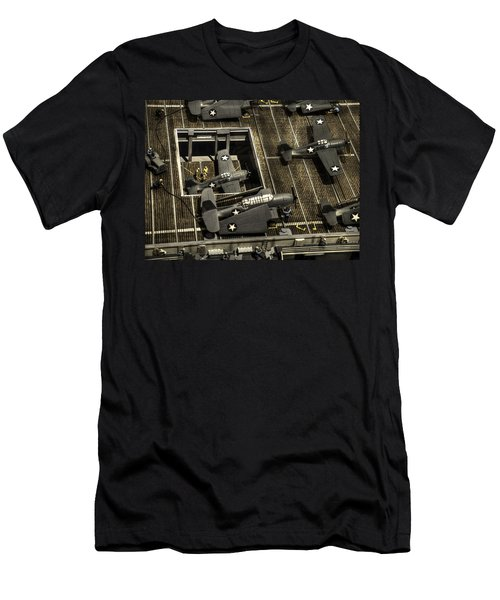 U S S Hornet C V-12 Men's T-Shirt (Athletic Fit)