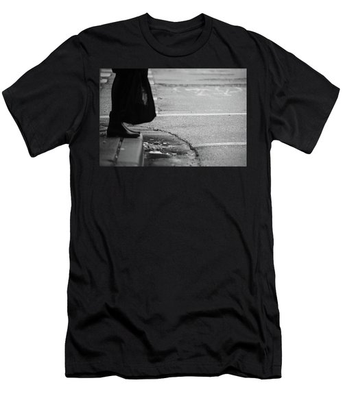 Men's T-Shirt (Slim Fit) featuring the photograph U Stopped Me On My Tracks  by Empty Wall