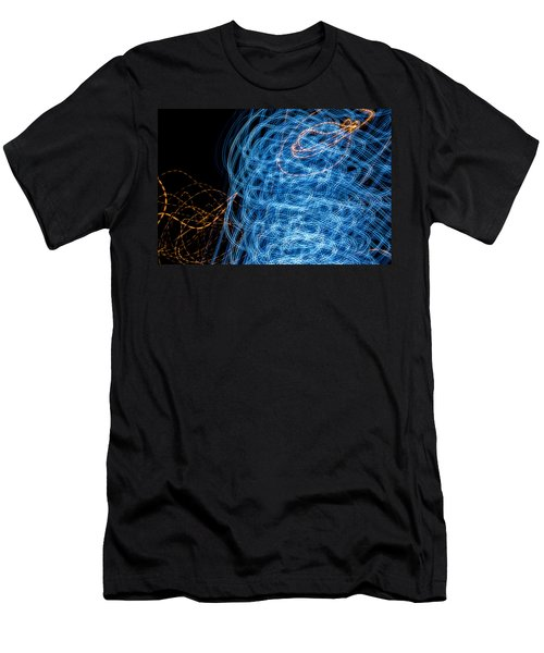 Ufa Neon Abstract Light Painting Sodium #7 Men's T-Shirt (Athletic Fit)