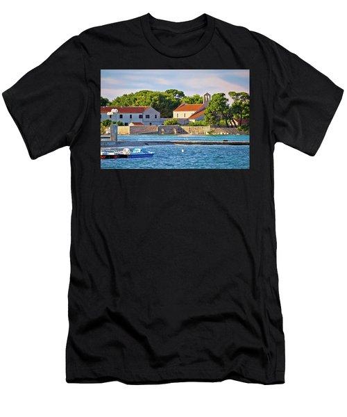 Ugljan Island Village Old Church And Beach View Men's T-Shirt (Athletic Fit)