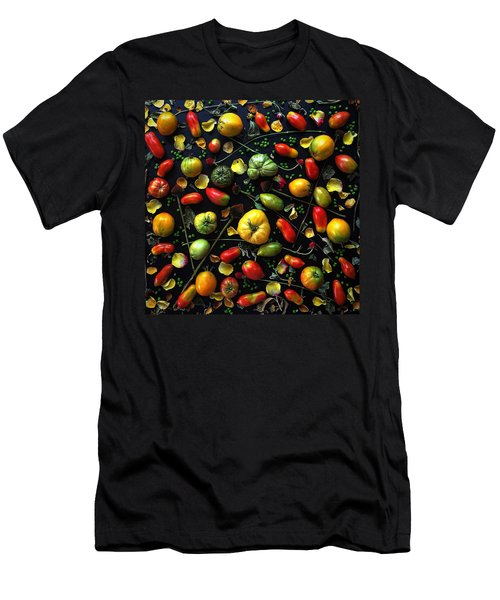 Heirloom Tomato Patterns Men's T-Shirt (Athletic Fit)