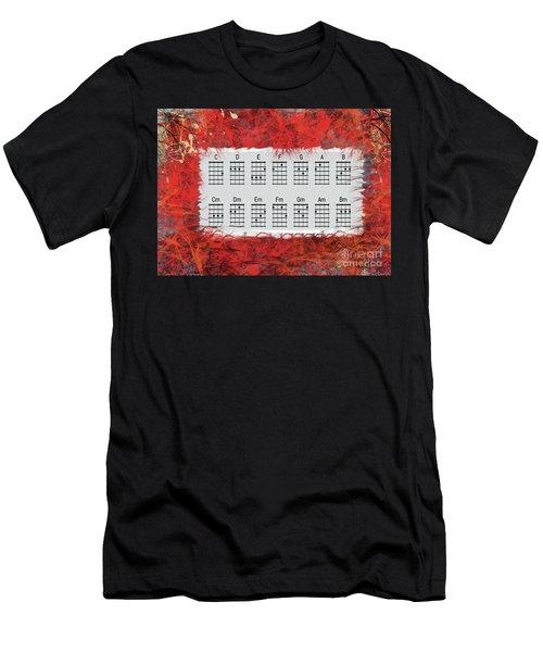 Ukulele Basic Chords Men's T-Shirt (Athletic Fit)
