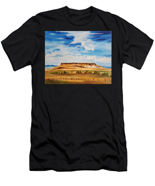 Ulm Montana First People's Buffalo Jump   93 Men's T-Shirt (Athletic Fit)