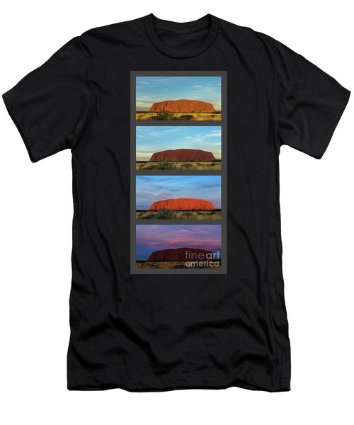 Uluru Sunset Men's T-Shirt (Athletic Fit)