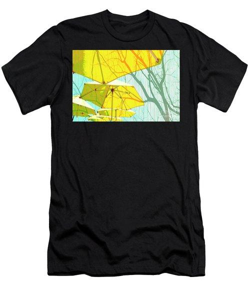 Umbrellas Yellow Men's T-Shirt (Athletic Fit)