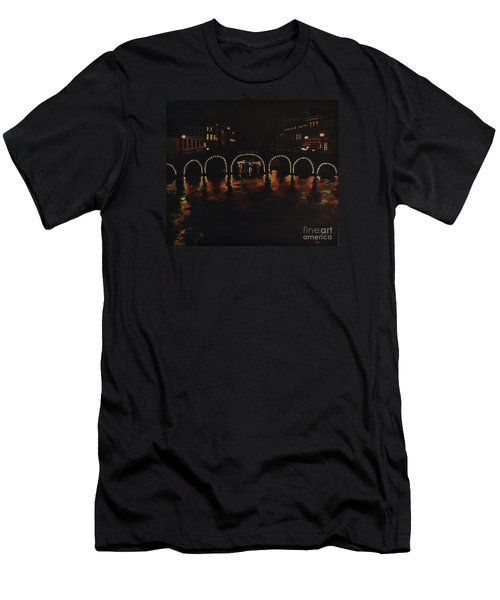 Under A Lighted Bridge In Amsterdam Men's T-Shirt (Athletic Fit)