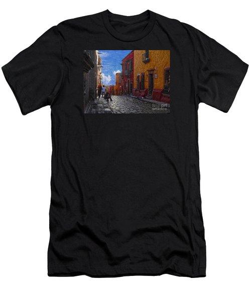 Under A Van Gogh Sky Men's T-Shirt (Athletic Fit)