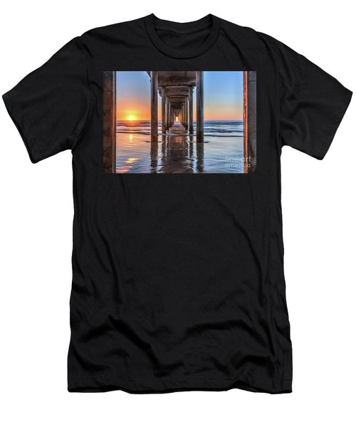 Under Scripps Pier At Sunset Men's T-Shirt (Athletic Fit)