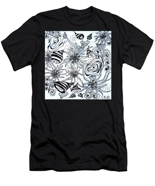 Men's T-Shirt (Athletic Fit) featuring the drawing Under The Sea by Carole Brecht