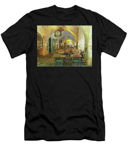 Underneath The Arches - Street Cafe, Prague Men's T-Shirt (Athletic Fit)
