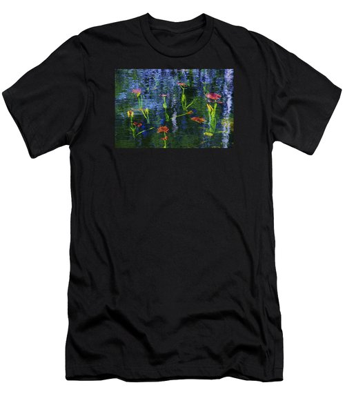 Men's T-Shirt (Athletic Fit) featuring the photograph Underwater Lilies by Sean Sarsfield