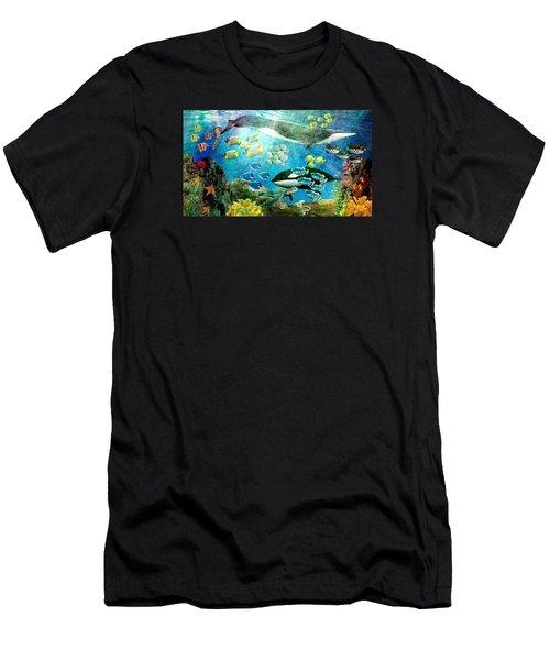 Underwater Magic Men's T-Shirt (Athletic Fit)